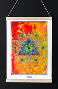 magical eye pentagram mystical art poster for home decor - coloro mystic