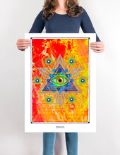 Load image into Gallery viewer, eye magical pentagram mystical art poster for home decor - coloro mystci