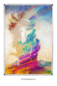 forest woman metamorphoses art poster for boho home decor - coloro mystic