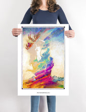 Load image into Gallery viewer, forest woman metamorphoses art poster for boho home decor - coloro mystic