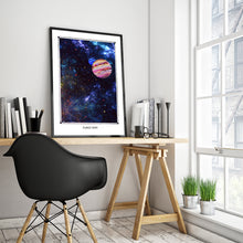 Load image into Gallery viewer, galaxy space planet ruby art poster for boho home decor - coloro mystic