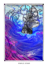 Load image into Gallery viewer, psychedelic sea ship art poster for boho home decor - coloro mystic