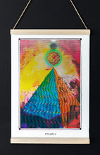 Load image into Gallery viewer, egyptian pyramid psychedelic art poster for boho home decor - coloro mystic