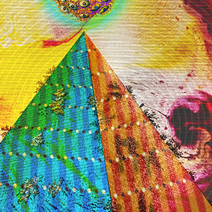 egyptian pyramid psychedelic art poster for boho home decor - coloro mystic