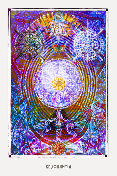 esoteric occult art poster for boho home decor - coloro mystic