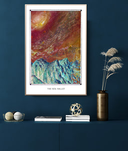 Surreal Mars landscape poster for your House and home office decor