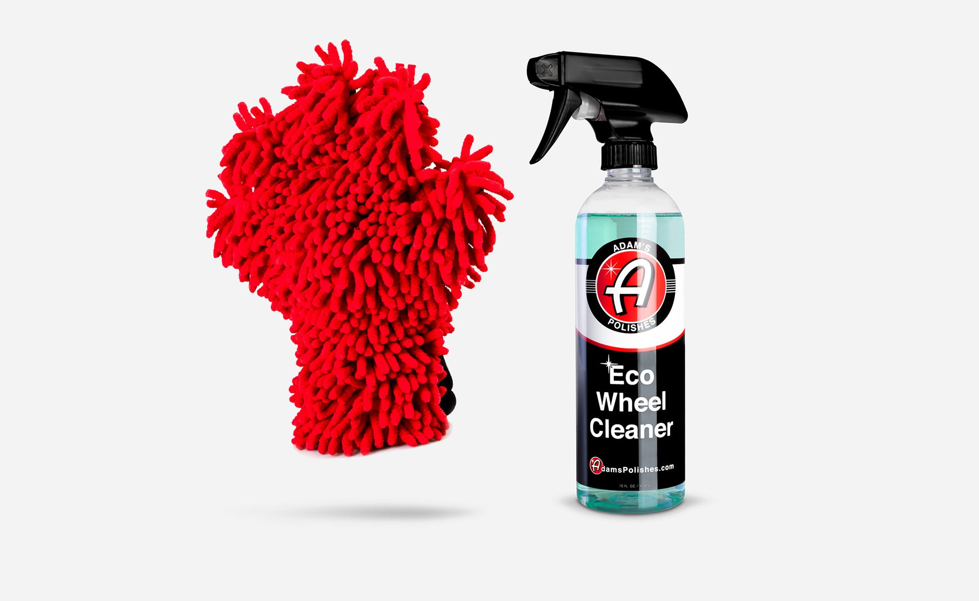 Adam's Eco Wheel Cleaner & Wheel Wash Mitt Combo