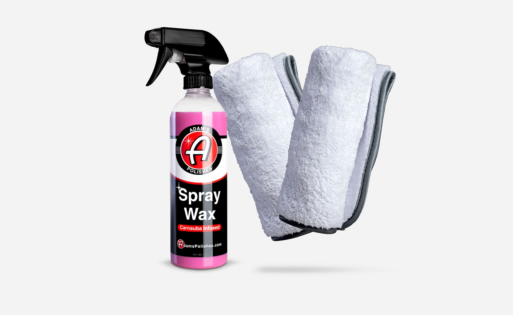 Adam's Spray Wax 16oz & Towel Combo