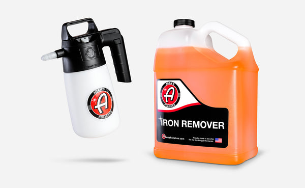 Adam's Iron Remover Gallon & Pressurized Multi-Sprayer Combo