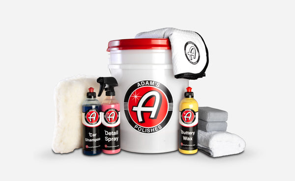 Adam's Basic Wash & Wax Bucket Kit