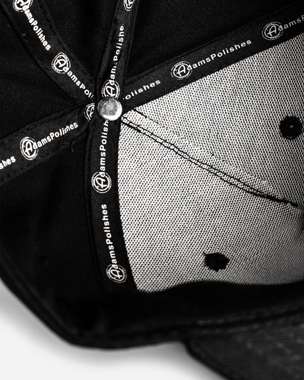 Adam's Black Snapback - Black Patch
