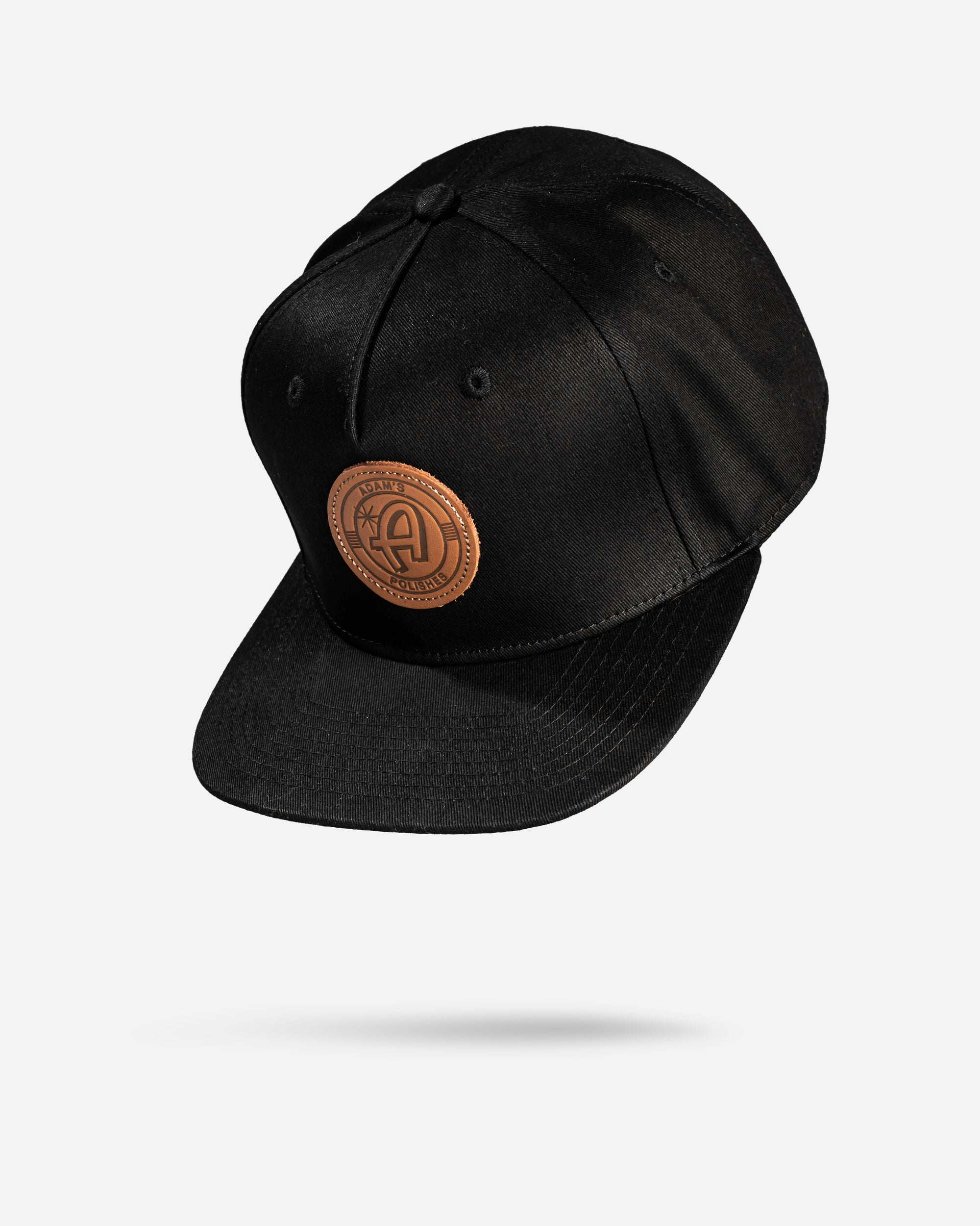 Adam's Black Snapback - Brown Patch