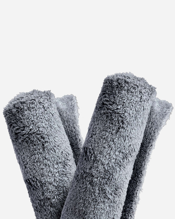Adam's Borderless Grey Microfiber Towel