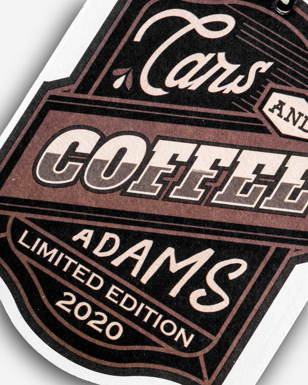 Adam's Cars & Coffee Air Freshener (Deluxe)
