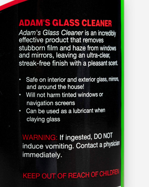 Adam's Glass Cleaner Gallon with Free 16oz