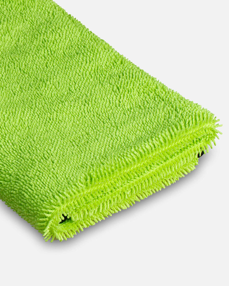 Adams Microfiber Glass Cleaning Towel Two Sided 12 Pack Streak Free Glass Cleaning Towel Soft Satin Stitched Edges 540 GSM