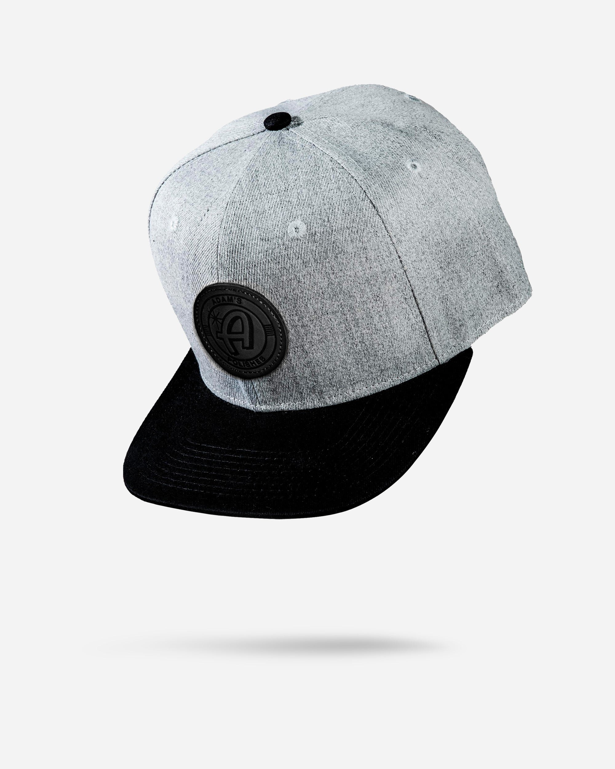Adam's Black/Gray Snapback - Black Patch