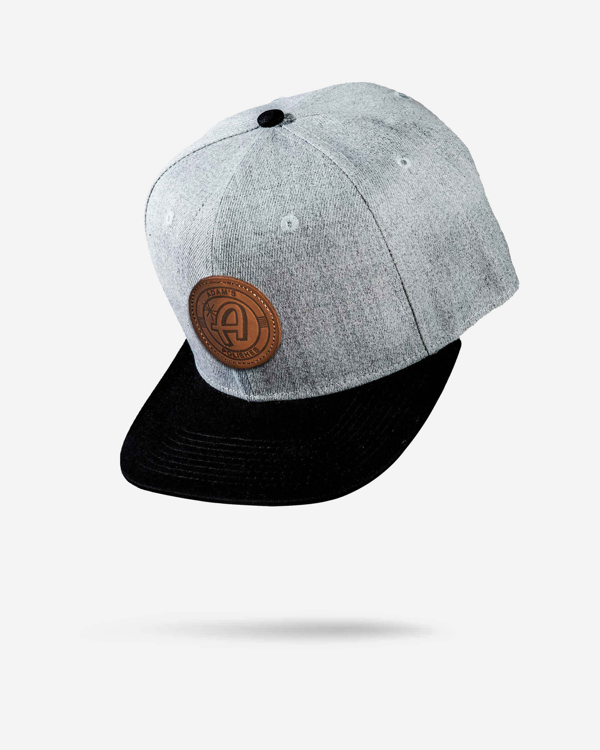 Adam's Black/Gray Snapback - Brown Patch