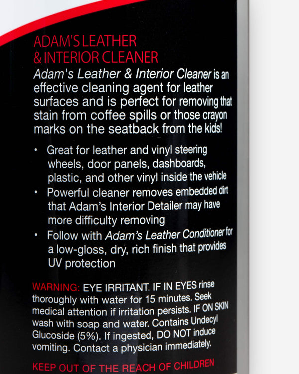 Adam's Leather & Interior Cleaner