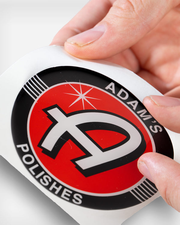 "Adam's Polishes 3"" Dome Sticker"