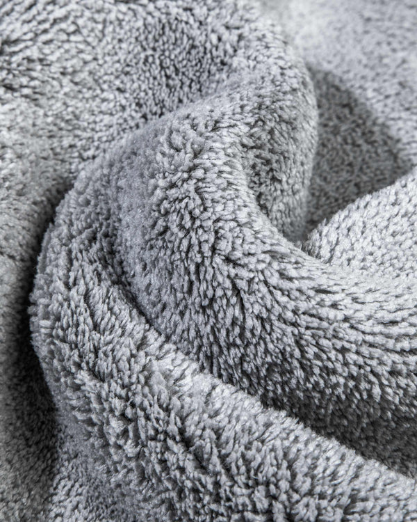 Adam's Gray Plush Microfiber Towel