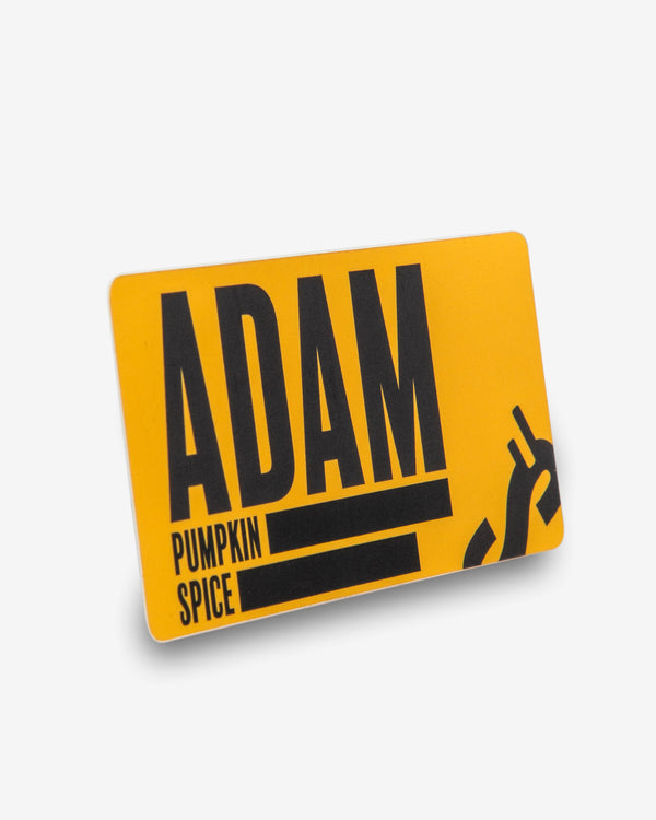 Adam's Falling S Sticker
