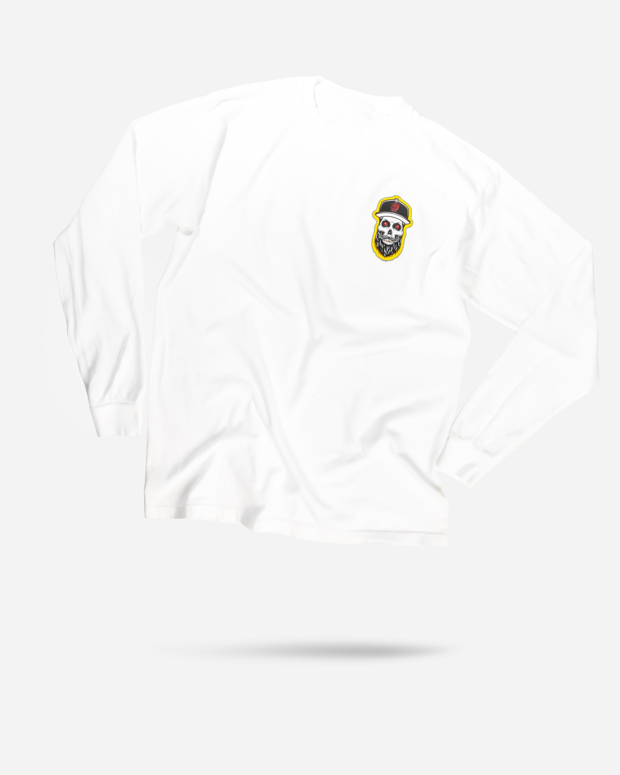 Adam's Skeleton White Long-Sleeve T-Shirt