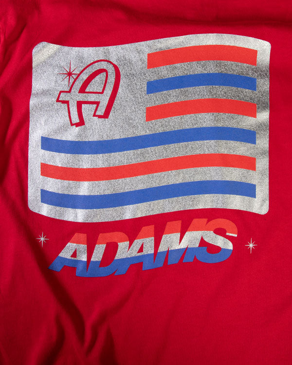Adam's Red USA Logo Shirt