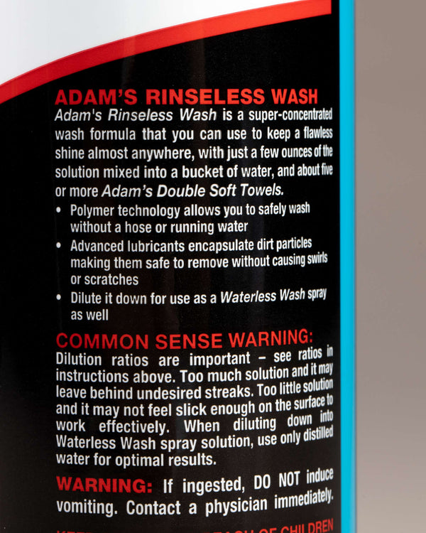Adam's Rinseless Wash