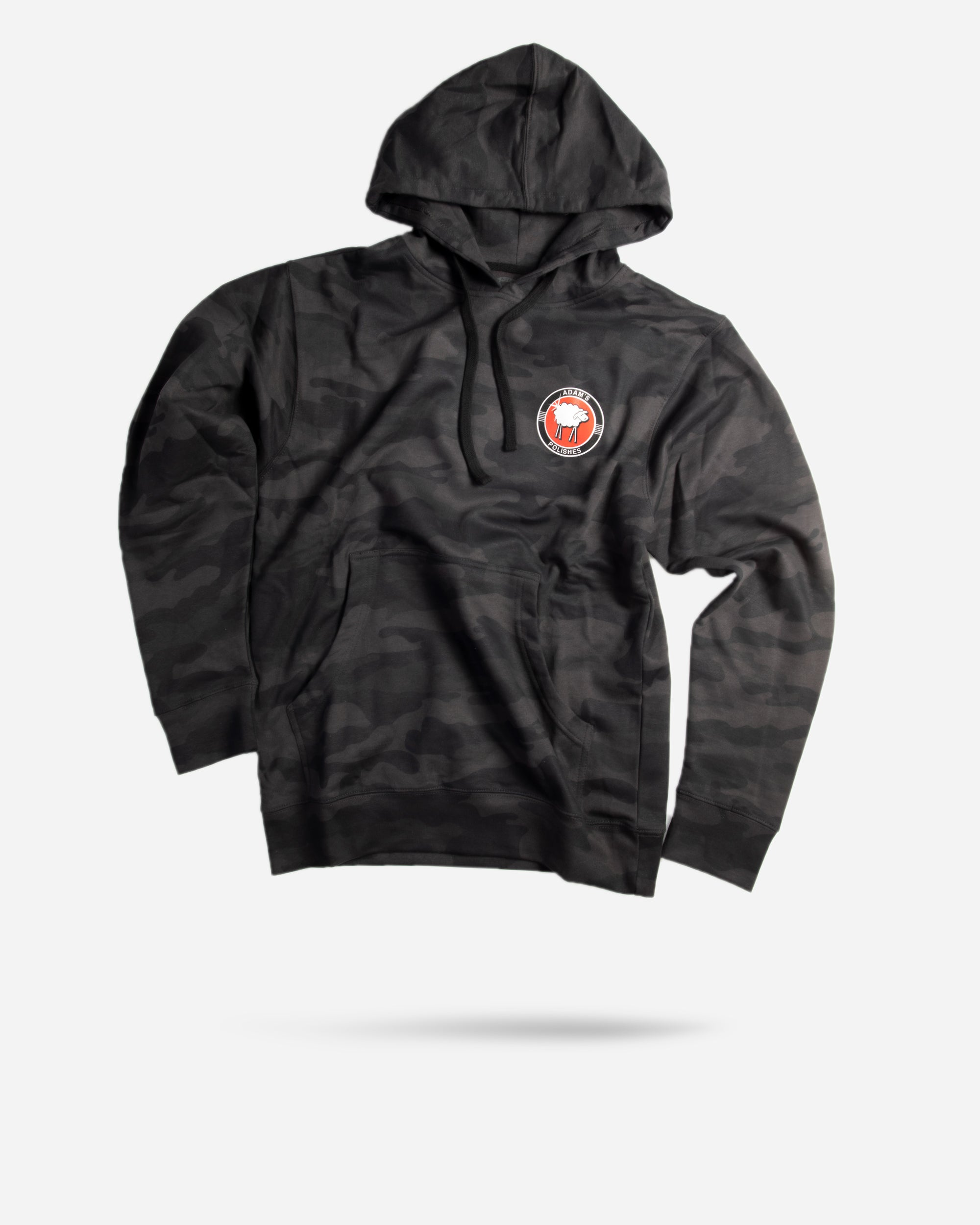 Sheepey Race X Adam's Polishes Black Camo Hoodie