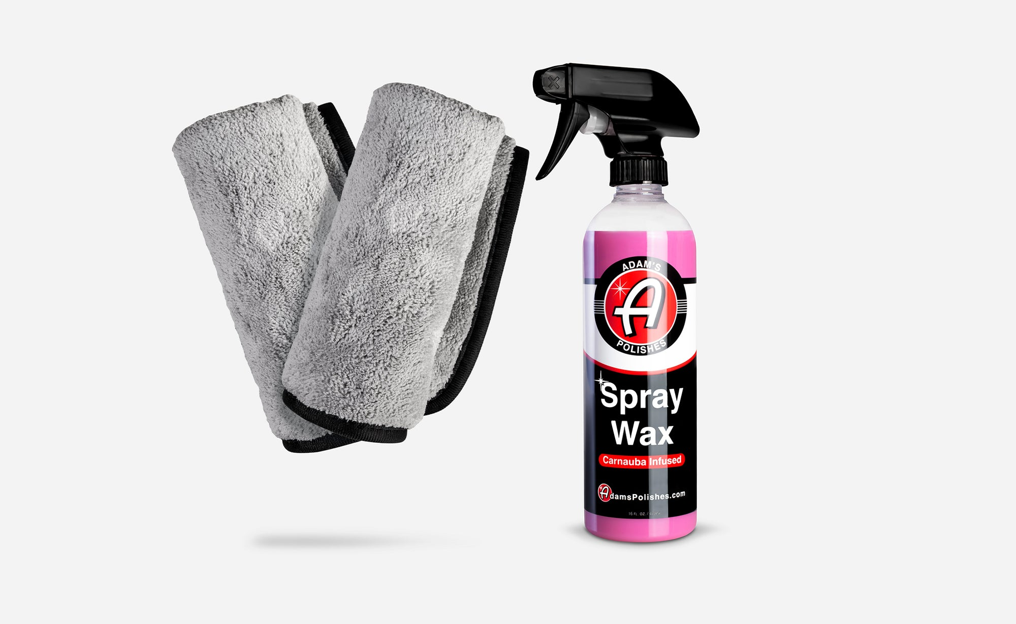 Adam's Spray Wax & Microfiber Combo