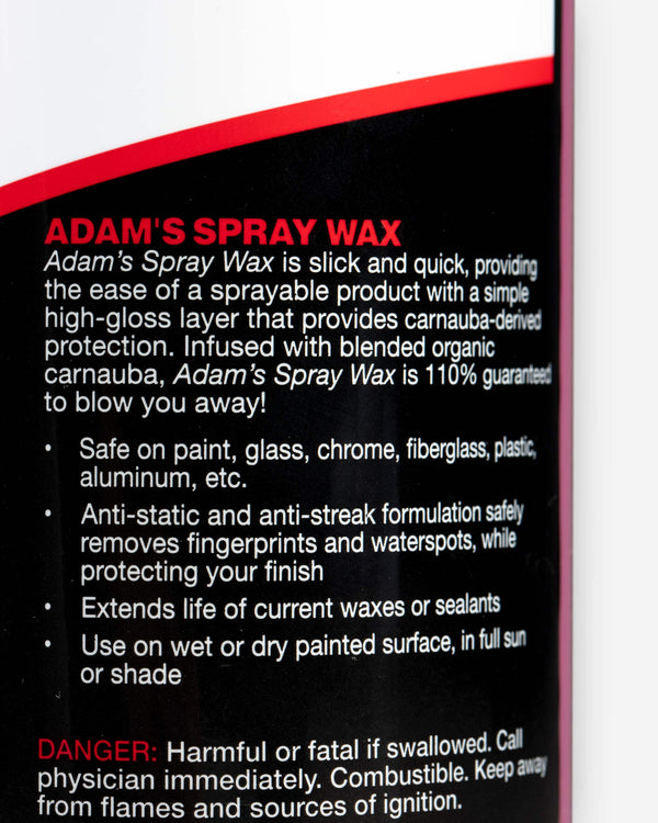Adam's Spray Wax