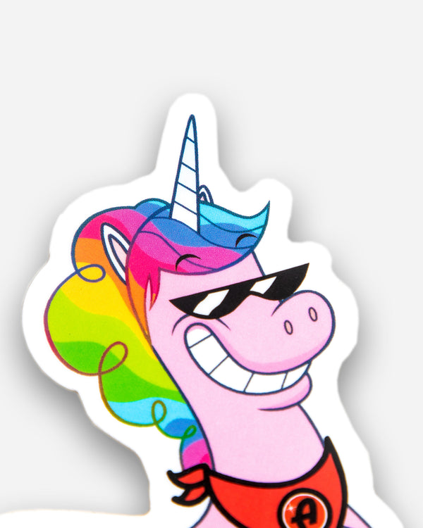 Adam's Unicorn Die Cut Sticker