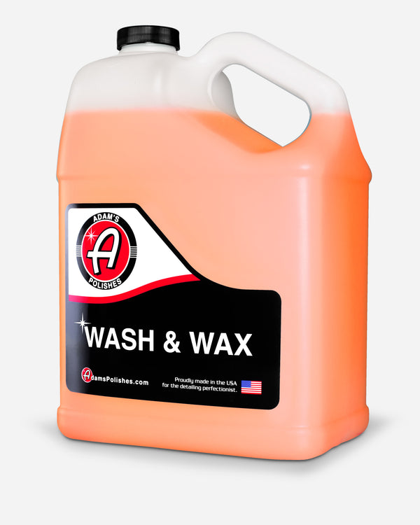 Adam's Wash & Wax Gallon with Free 16oz