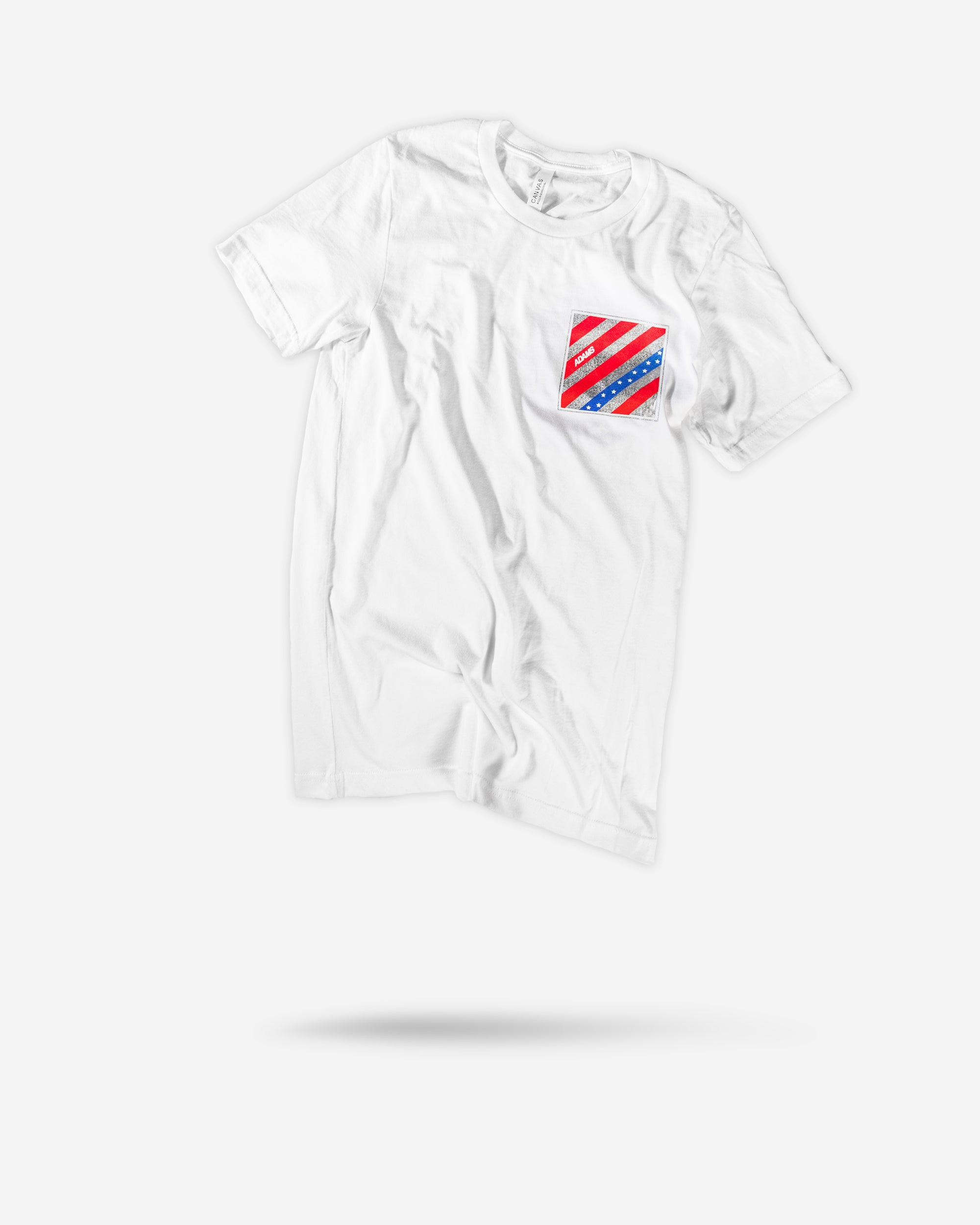 Adam's White USA Logo Shirt