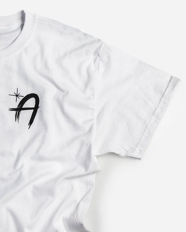 Adam's White Brushed Logo T-Shirt