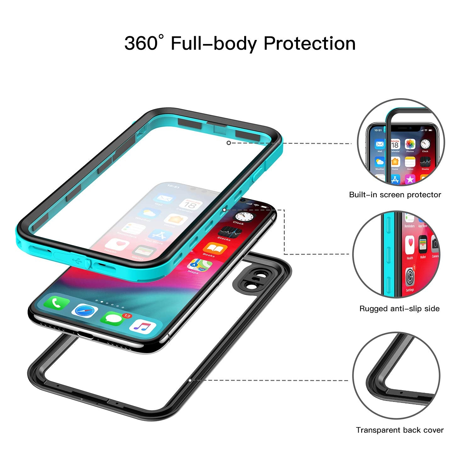 iPhone Xs Max Waterproof Case