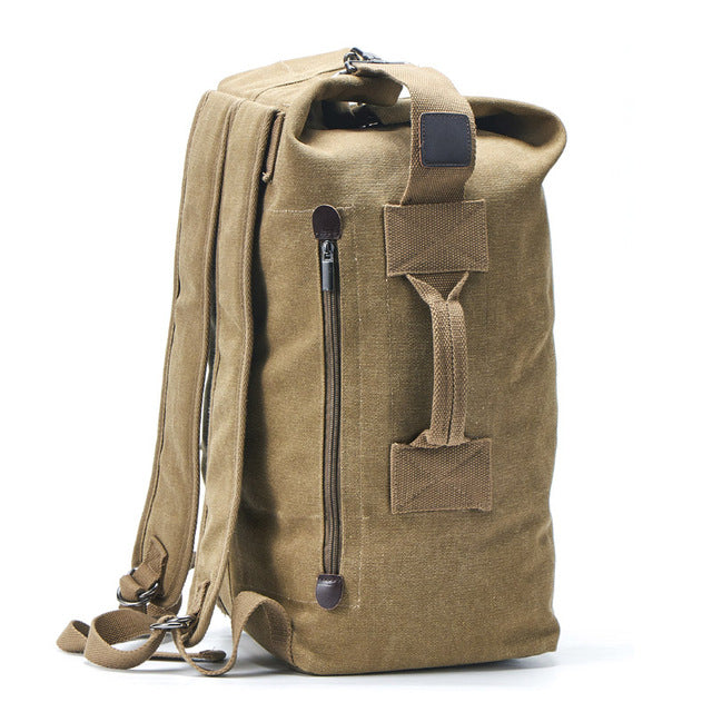 BRANDON Backpack-152401-The Canvas Bag™-2021 style Khaki-Medium 26x45x20cm-The Canvas Bag™