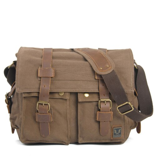 The LEGEND Messenger Bag-201337711-The Canvas Bag™-Light coffee-The Canvas Bag™