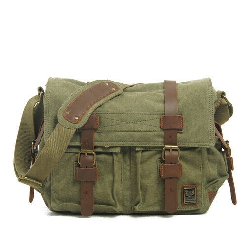 The LEGEND Messenger Bag-201337711-The Canvas Bag™-Green-The Canvas Bag™