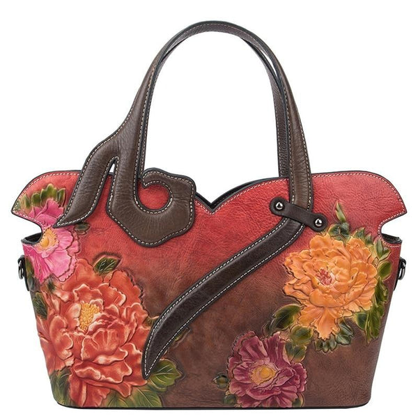 BLOOM® Tote Bag | Handmade Genuine Leather Art-100002856-The Canvas Bag™-The Canvas Bag™