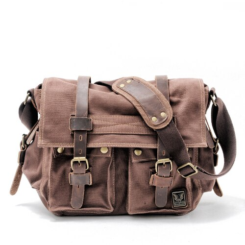The LEGEND Messenger Bag-201337711-The Canvas Bag™-Dark coffee-The Canvas Bag™