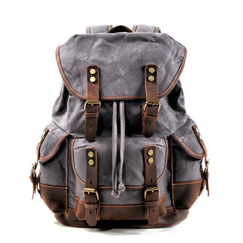 PATRICK Backpack | Vintage & Waterproof-152401-The Canvas Bag™-Dark Grey-The Canvas Bag™