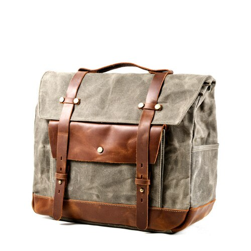 JAMES Motorcycle Bag-201336108-The Canvas Bag™-Army Green-The Canvas Bag™