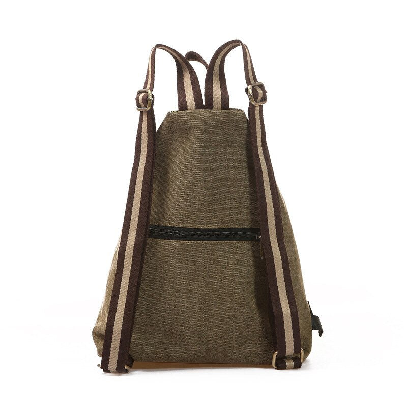 The DAYA Backpack-152401-The Canvas Bag™-Beige - Army Green-The Canvas Bag™