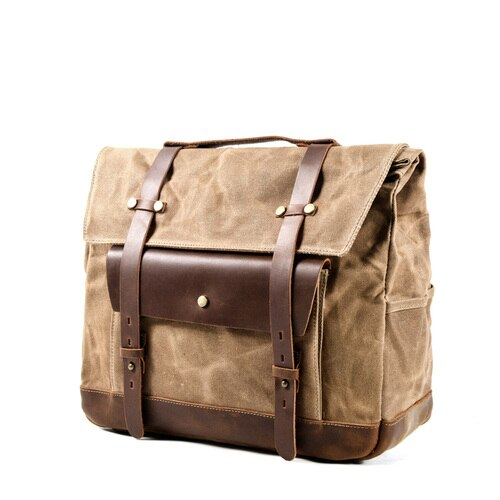 JAMES Motorcycle Bag-201336108-The Canvas Bag™-Khaki-The Canvas Bag™