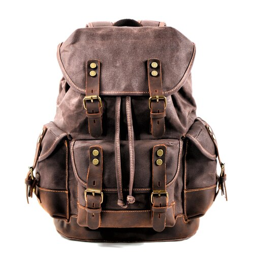 PATRICK Backpack | Vintage & Waterproof-152401-The Canvas Bag™-Dark Brown-The Canvas Bag™