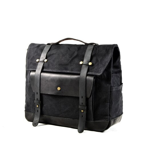 JAMES Motorcycle Bag-201336108-The Canvas Bag™-Black-The Canvas Bag™