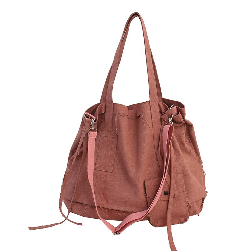 FETTY Vintage Multi-Purpose Tote Bag-100002856-The Canvas Bag™-Pink-(30cm<Max Length<50cm)-The Canvas Bag™