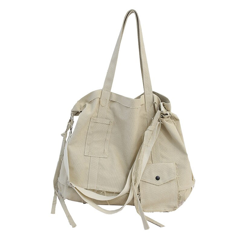 FETTY Vintage Multi-Purpose Tote Bag-100002856-The Canvas Bag™-Beige-(30cm<Max Length<50cm)-The Canvas Bag™
